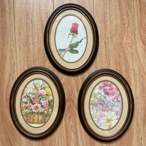 Vintage 1950s Hand Painted Frames - textured